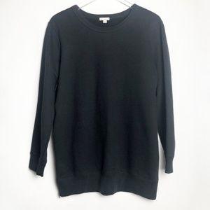 GAP   Black Crewneck Sweater with Side Zipper  M